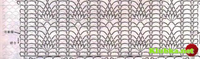 Юбка с квадратами и ананасами