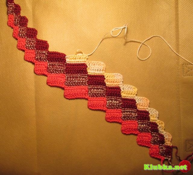 Вязание из остатков ниток nuo Иллара (барджелло)
