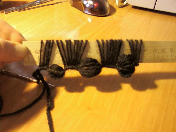 Вязание на линейке крючком (Knitting on the ruler hook)