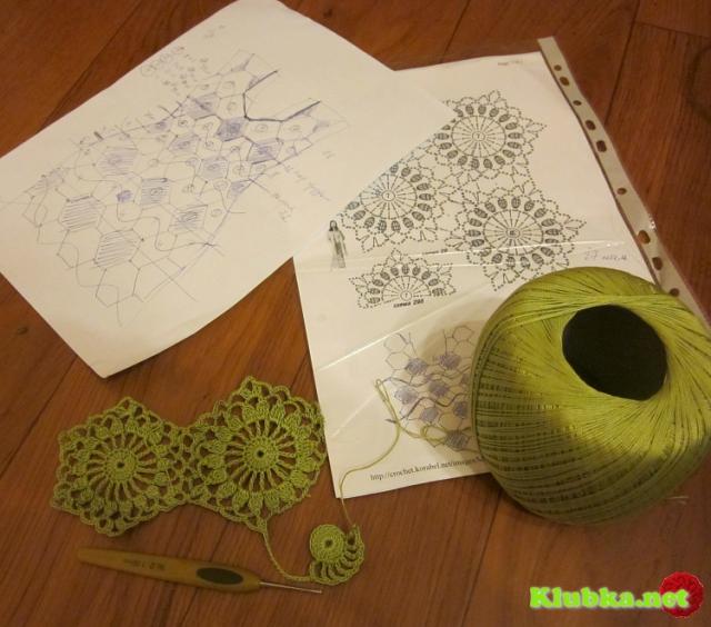 МК безотрывного вязания - ромашковый мотив