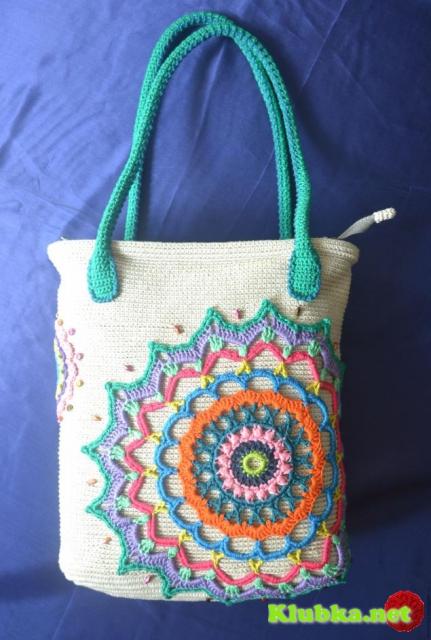 """Сумка """"Кольца"""", Идея декора сумки и МК ручек."""