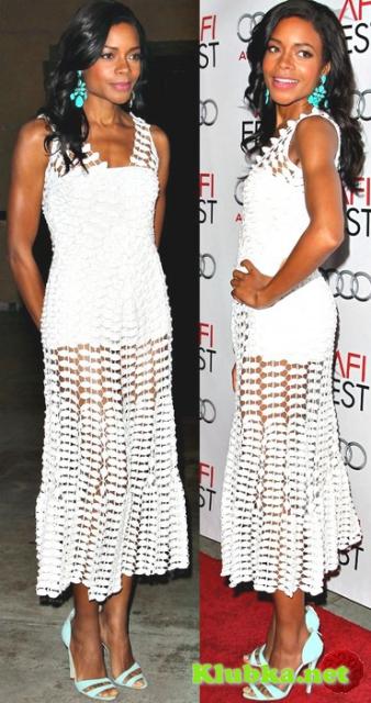 Белое платье ЛИСТЬЯ от OSCAR DE LA RENTA