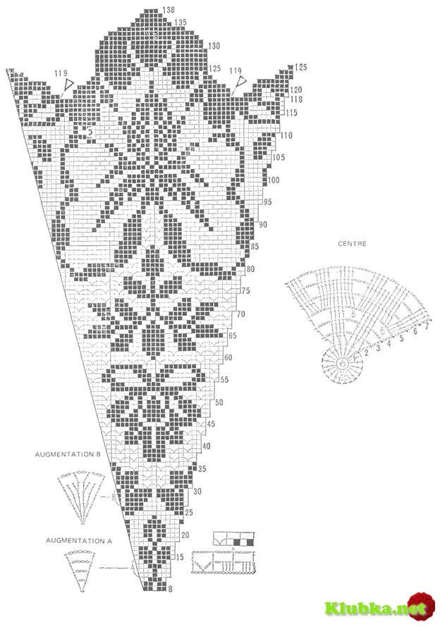 Круглые салфетки филейный узор
