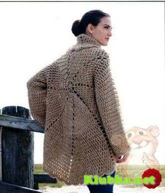 Жакет-пальто по кругу