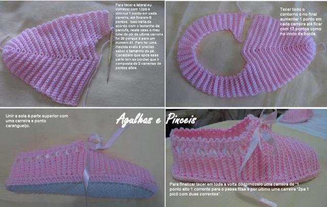 Красивые тапочки на жесткой подошве: вязание крючком