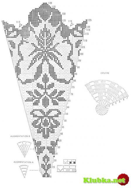 Фигурная филейная скатерть