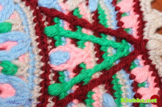 Маленький коврик-мандала