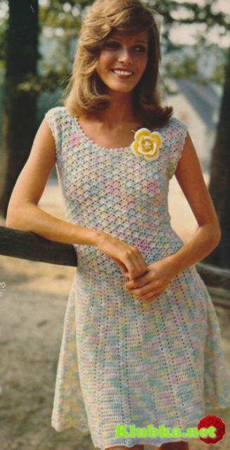 Платье меланж