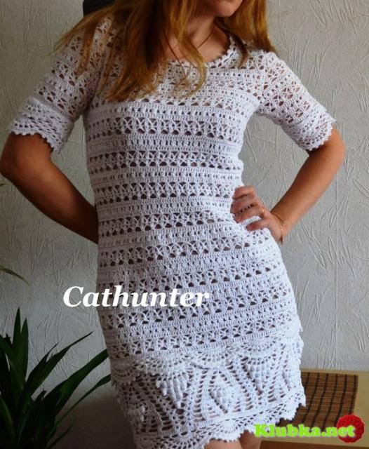 Ажурное элегантное платье