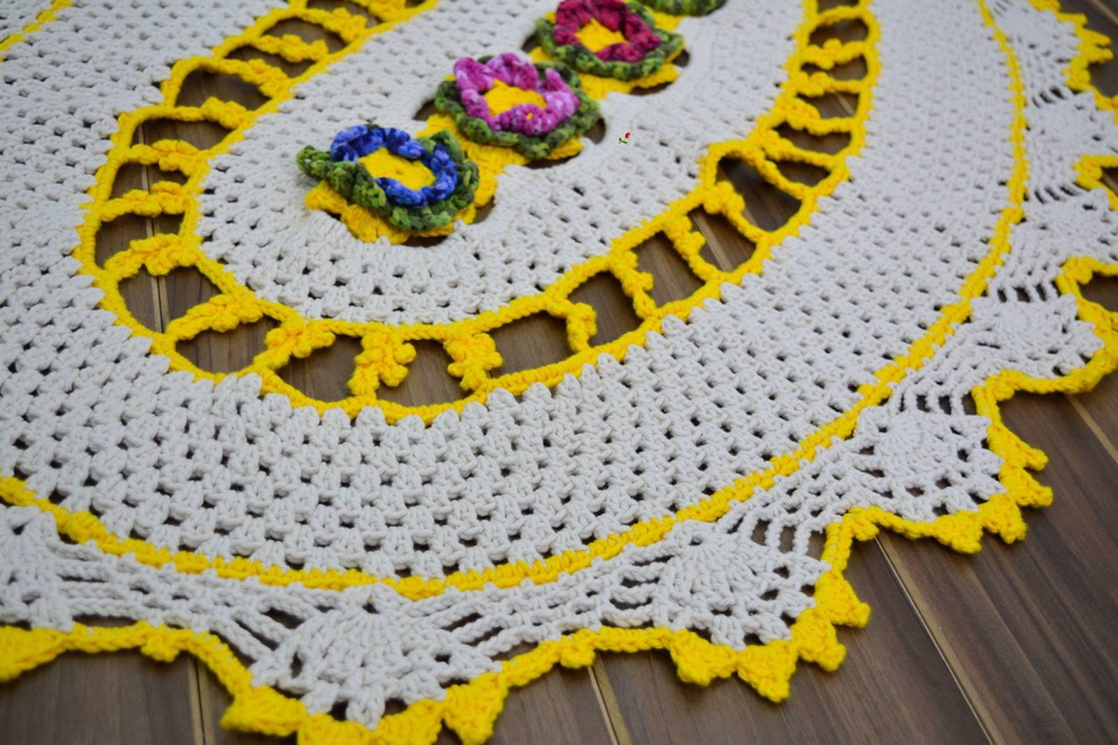 Вязание овальных ковров 100