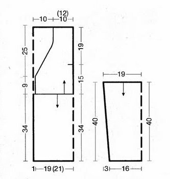 Чудесная пляжная туника крючком - схема