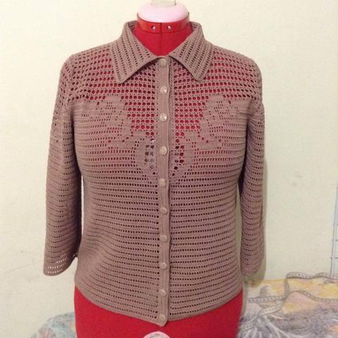 Женская рубашка крючком