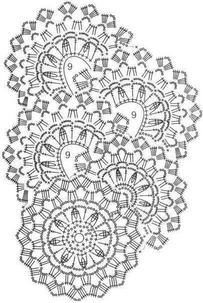 Шарфик выполненный ленточным кружевом