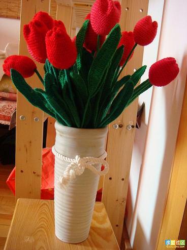 Яркие вязаные тюльпаны своими руками