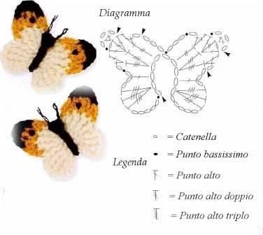 Простые бабочки крючком