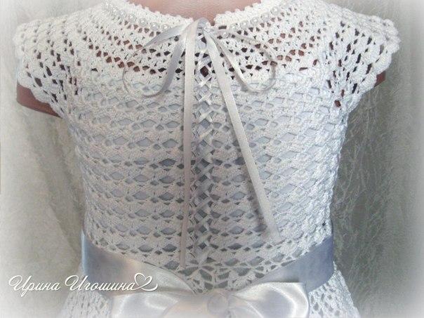Платье «Снежинка». Работа Ирины Игошиной.
