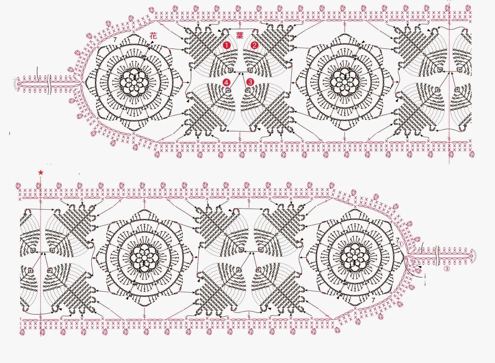 Вязание крючком подхваты для штор схемы