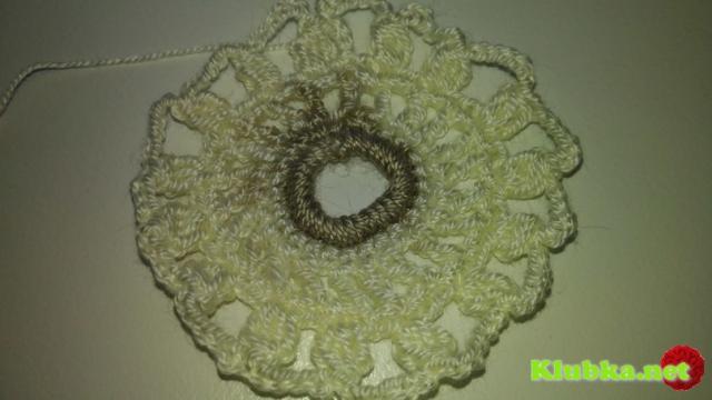 Схема вязания крючком круглого ажурного мотива
