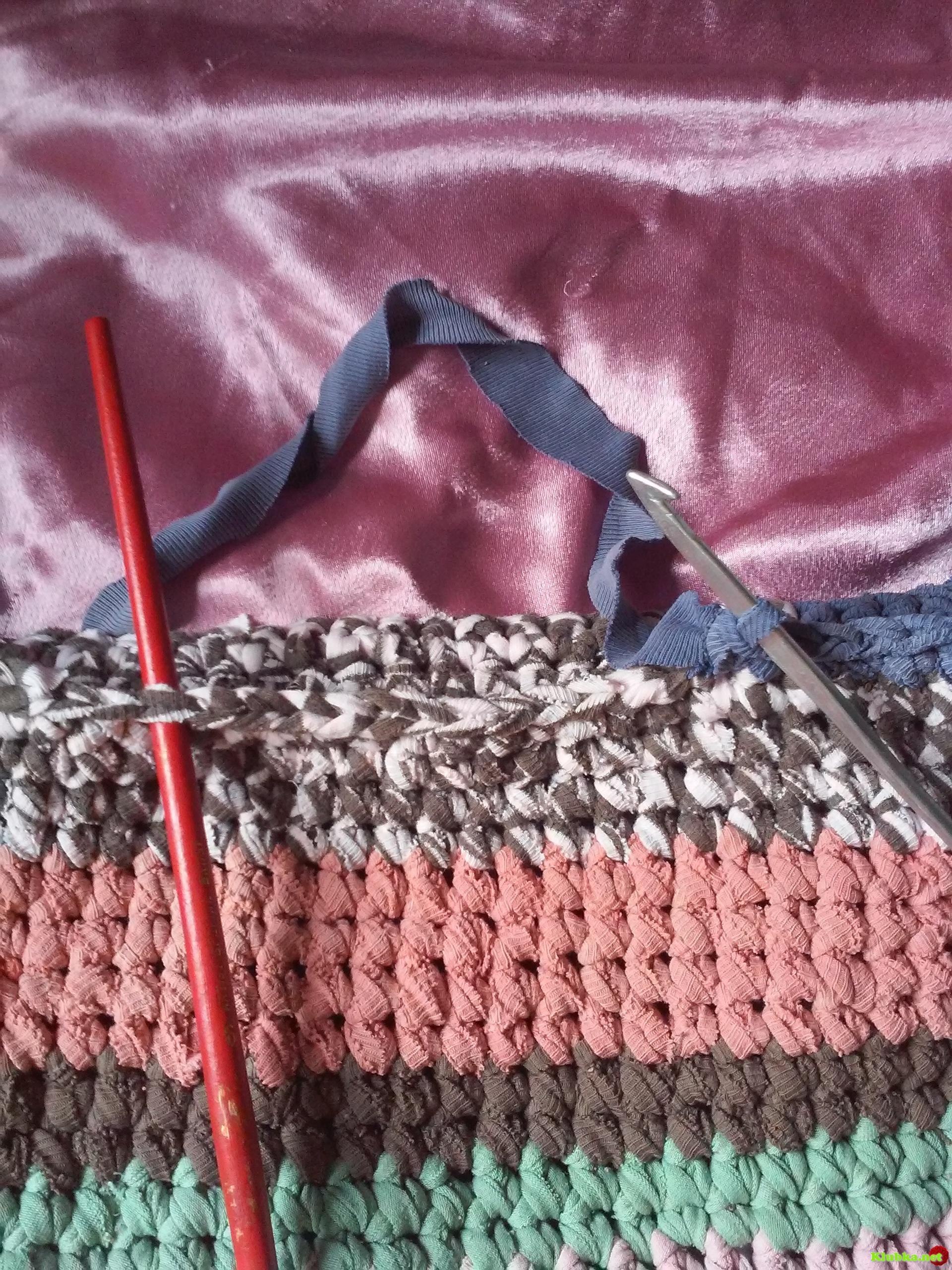 Вязание трикотажной ниткой 33
