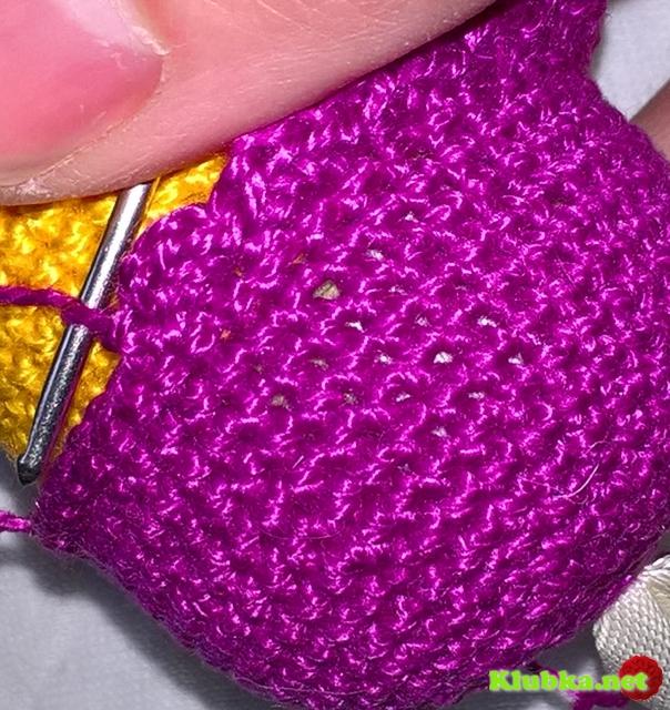 Как связать подвеску в форме совушки крючком