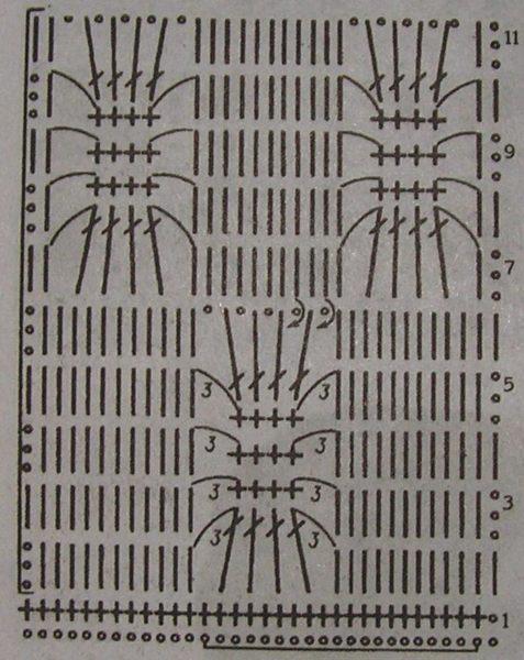 Летний жакет «Жемчужный паучок» крючком