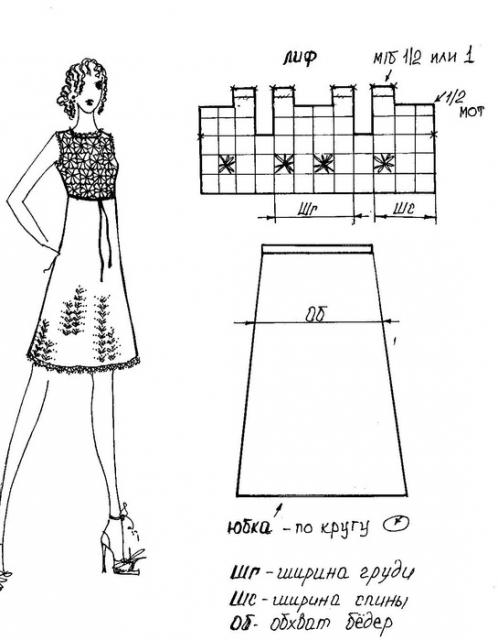Платье с мотивами