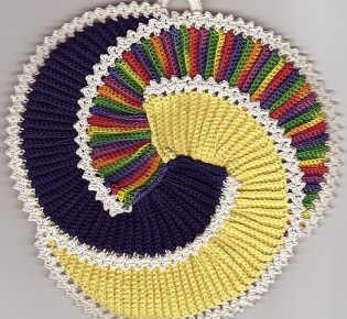 Спиральные прихватки Pikasso крючком
