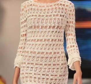 Платье крючком от Janaina Mendonca