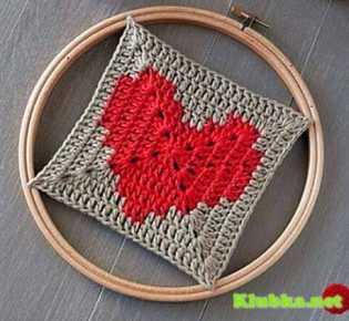 \»бабушкин\» квадрат с сердечком