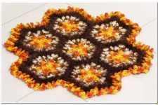 Пчелиный рай - коврик крючком