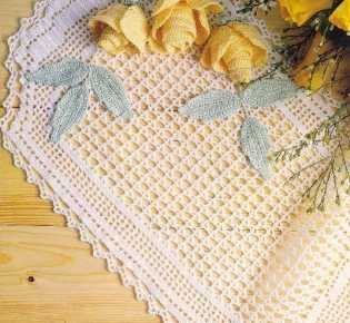 Красивые салфетки. Схемы вязания.