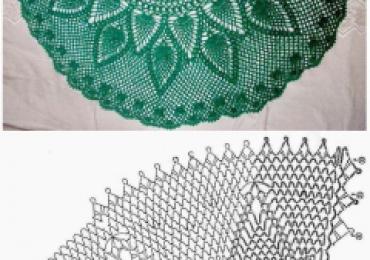 Изумрудная шаль-накидка ананас