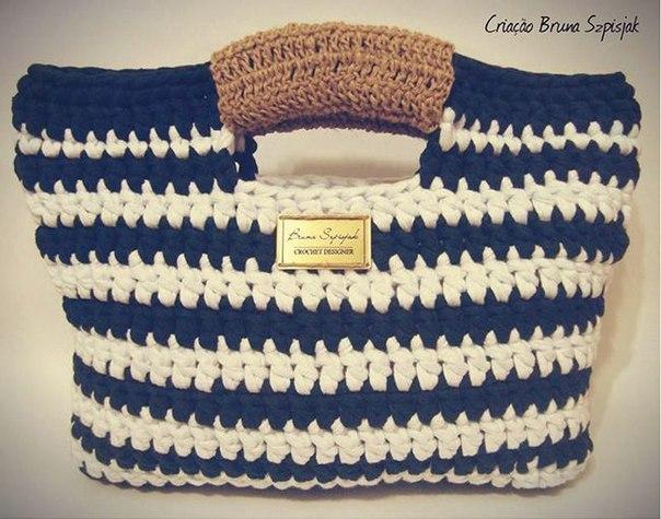 5c34ead9d615 Летняя сумка в морском стиле, вязанная крючком
