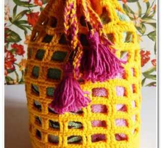 Пляжная сумка крючком