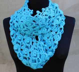 Как связать шарф снуд крючком \»Ангелы\». Видео уроки Виктории Исакиной.
