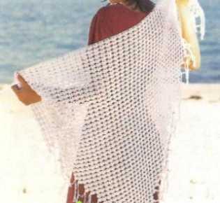 Летняя шапочка и шаль, связанные крючком