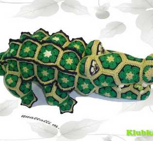 Игрушки крючком из мотивов \»Африканский цветок\».