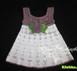 Вязание: платье для малышки
