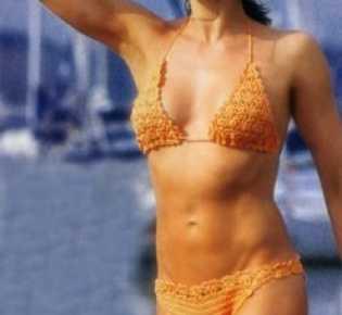 Вязаный купальник-бикини «Исполнение желаний»