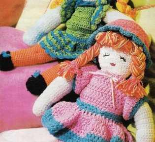 Вязаные детские куклы