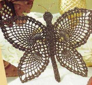 Вязание крючком бабочек