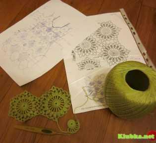 МК безотрывного вязания — ромашковый мотив