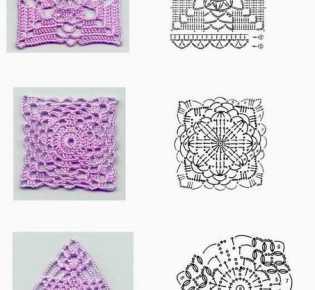 8 связаных крючком узоров
