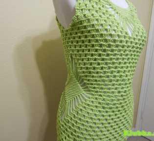 Блуза крючком Blusa Verde Limon