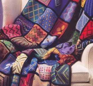 Пледы и покрывала — Схемы вязания