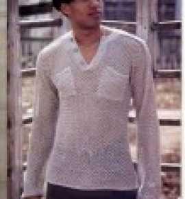 Пуловер вязанный крючком для мужчин