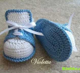 Вязание: ботиночки для \»Маленького Принца\»