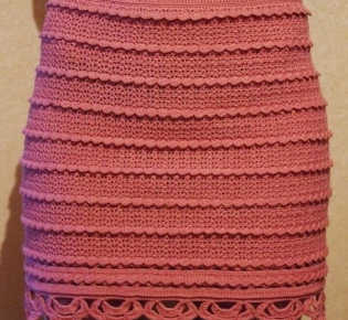 Вязаная мини-юбка крючком
