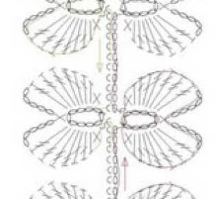 Веточки из листьев (схемы)