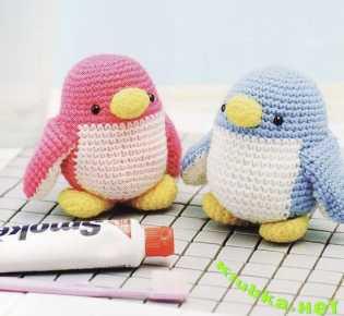 Вязаные крючком пингвинчики